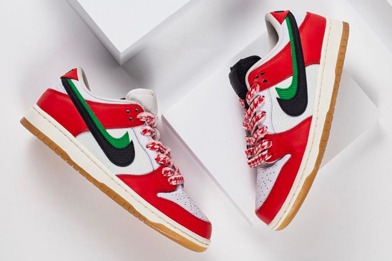 altavoz Encogerse de hombros Equivalente  These Frame Skate x Nike SB 'Habibis' Are Inspired By The UAE Flag | GQ  Middle East