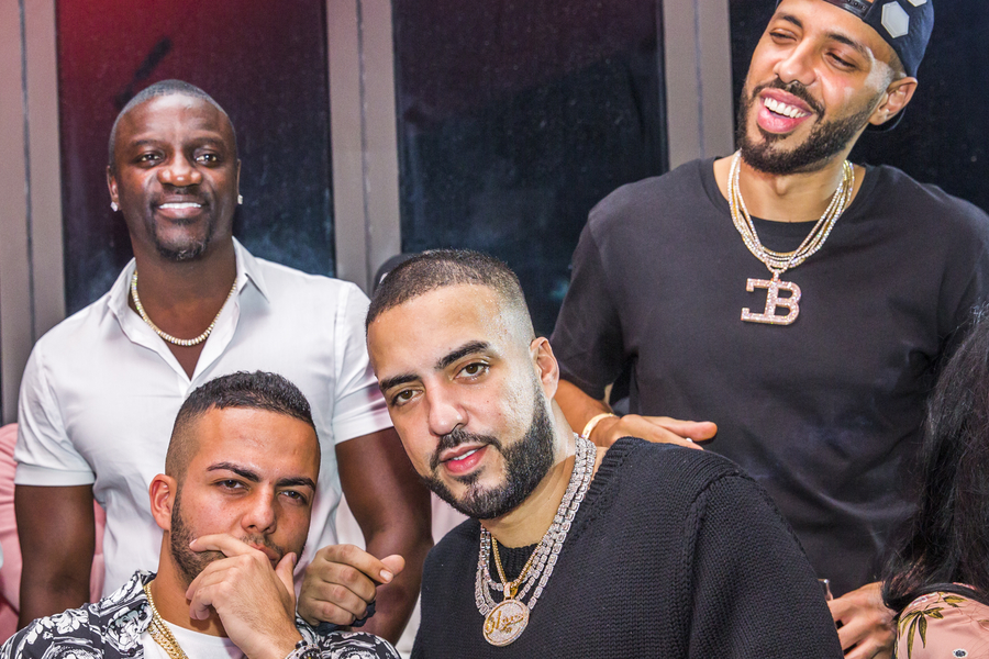 In Pictures: GQ's Formula 1 Party with French Montana