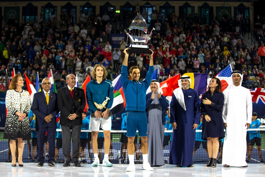 Federer Wraps Up 100th title In Second 'Home' Dubai