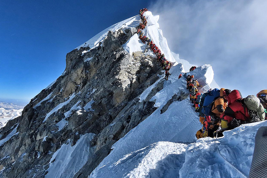 Mount Everest Is Overcrowded. Is Our Selfie-Obsessed Culture Part Of The Problem?