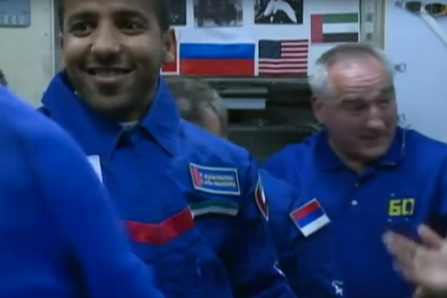 Watch The Moment The First UAE Man Comes Aboard The ISS