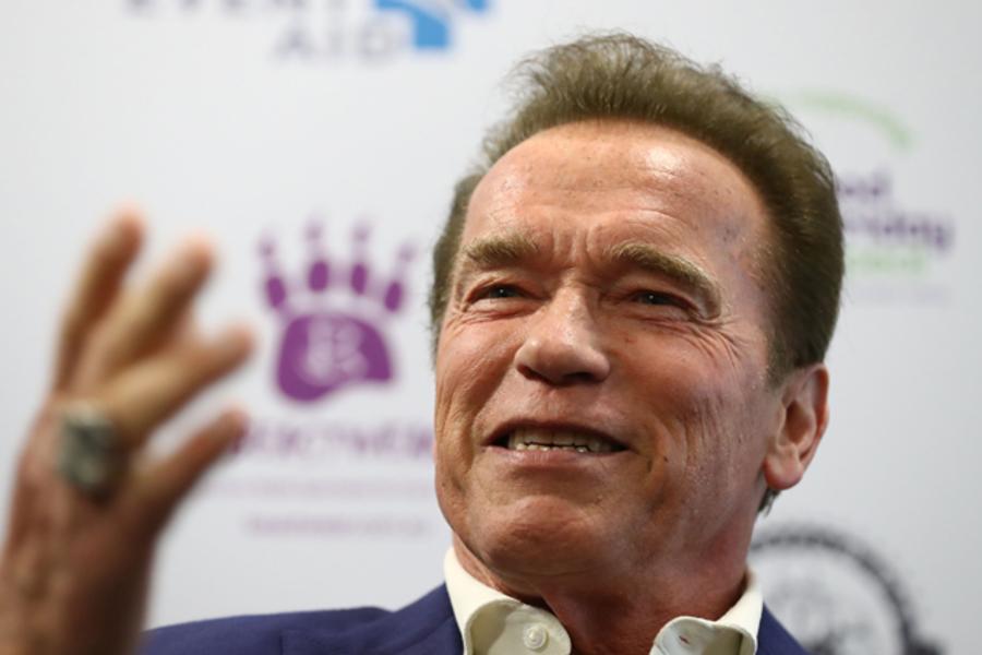 Arnold Schwarzenegger Has No Time For Jet Lag