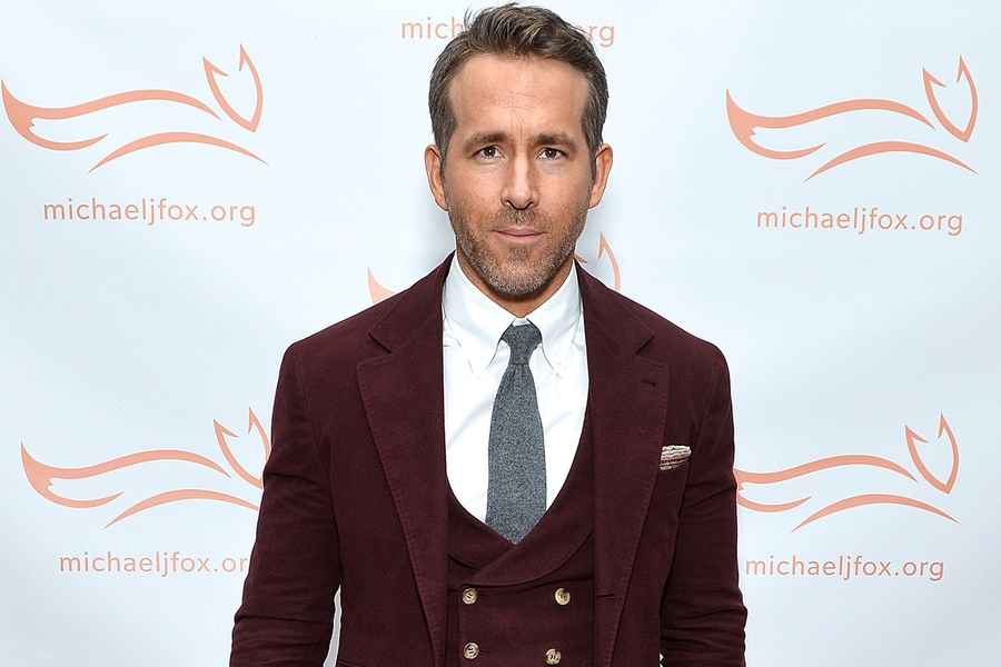 Tis The Season For Ryan Reynolds' Oxblood Suit