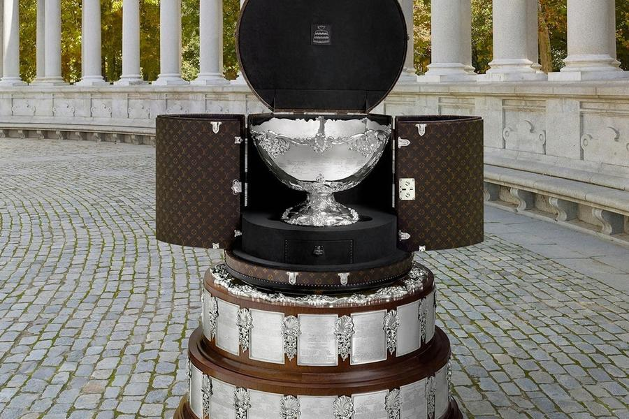See The Incredible Davis Cup Trophy Travel Case Courtesy Of Louis Vuitton