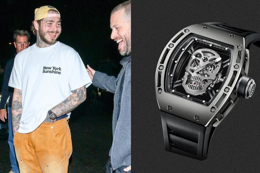 Post Malone Wears A Very Punk-Rock Timepiece