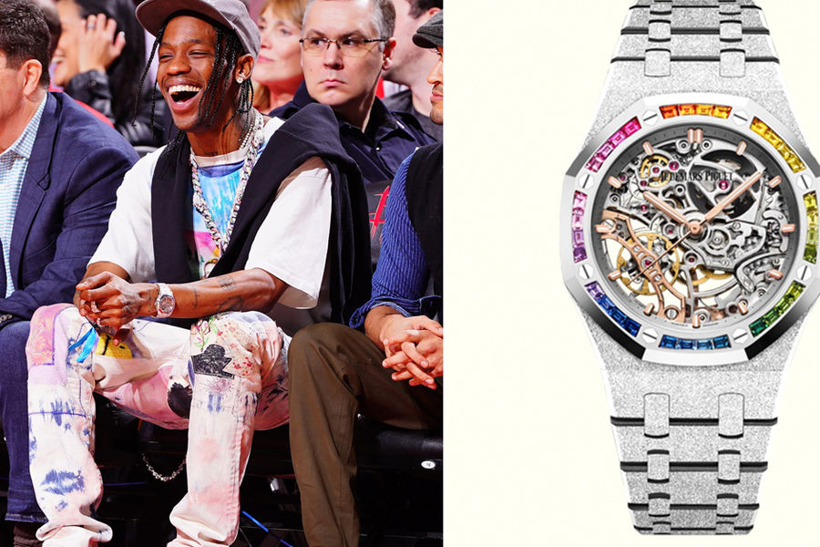 Travis Scott Brings The Rainbow With This Riot Of A Royal Oak