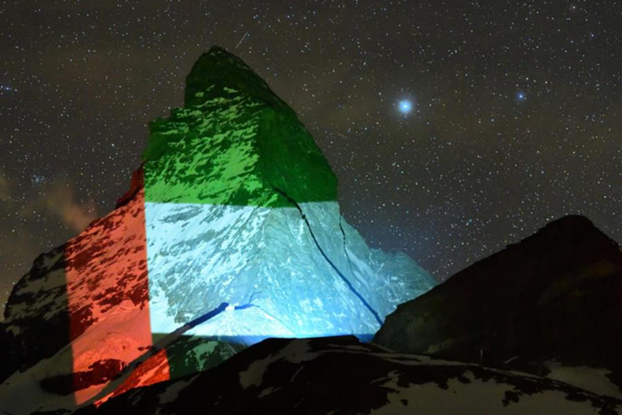 Coronavirus: The UAE Lights Up The Matterhorn In Show Of Solidarity