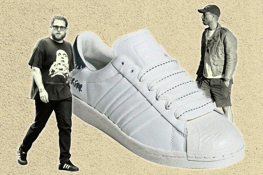 Jonah Hill and Pharrell, Both Superstars, Have Their Own Adidas Superstars