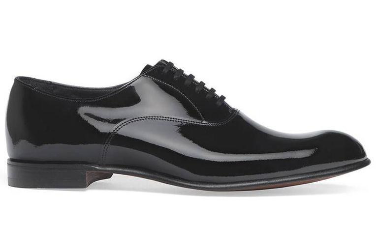 Black tie shoes