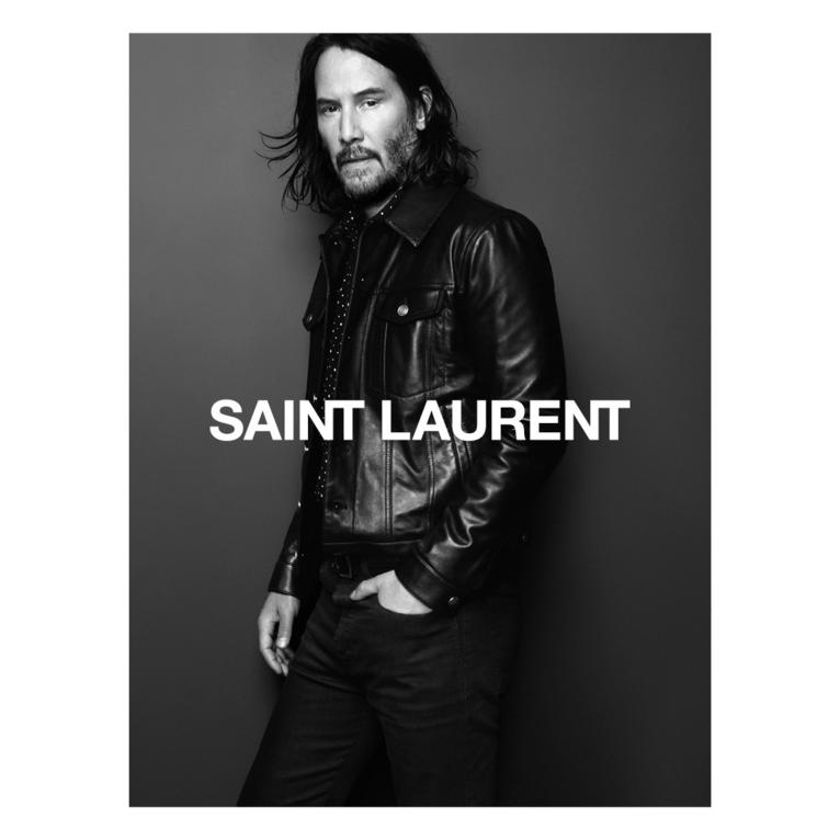 Keanu Reeves for Saint Laurent