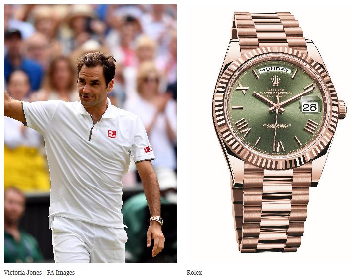 Roger Federer's Rolex Day-Date