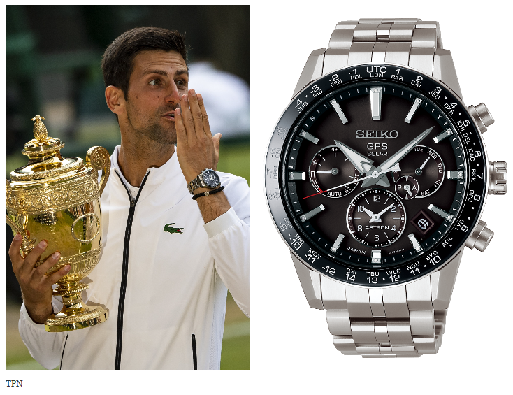 Novak Djokovic's Seiko Astron GPS Solar