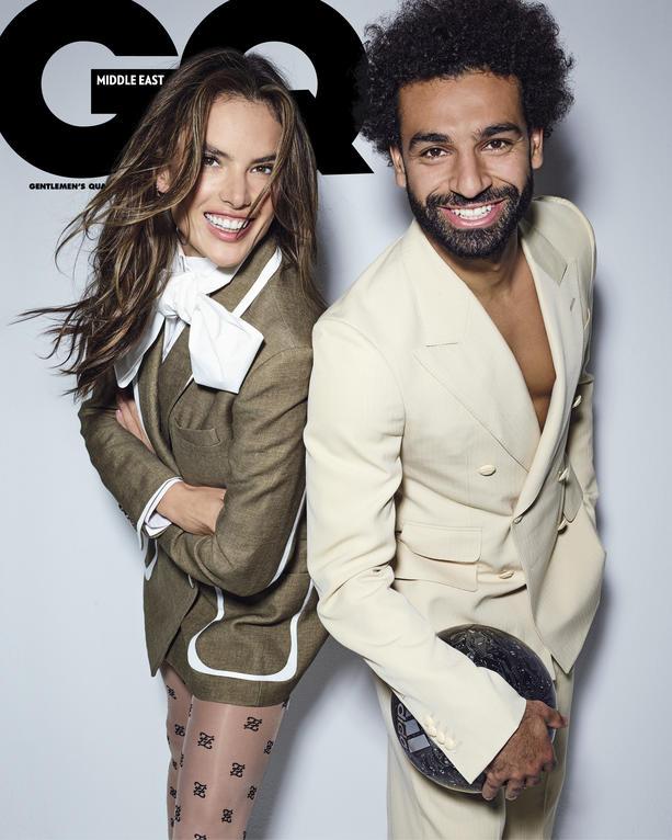 GQ Middle East cover Mo Salah Alessandra Ambrosio
